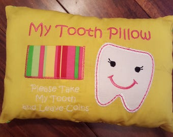 Tooth Fairy Pillow, Tooth pillow