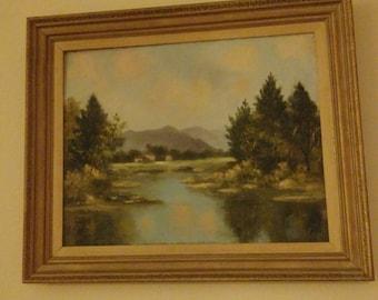 Unsigned Orrin White Landscape Oil Painting