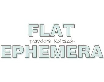 Travelers Notebook - Flat Paper Ephemera