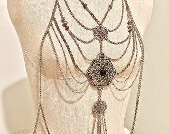 collections just harness necklace crystal sexy you attractive gold necklaces products gear for