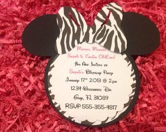Minnie safari invite Etsy