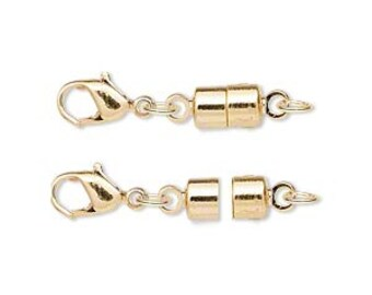One magnetic clasp converter, gold-plated brass, 25x6mm