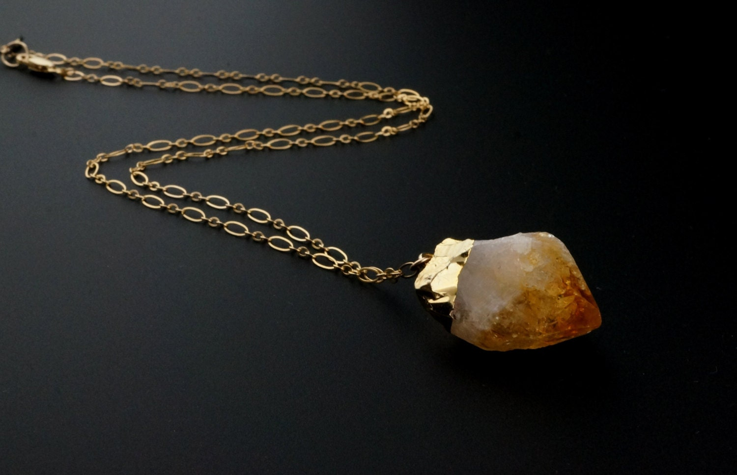 Citrine necklace citrine crystal raw citrine necklace zoom aloadofball Choice Image