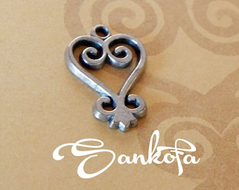 Set of 10 -Sankofa- Adinkra Pewter Charms