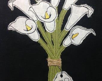Raw Edge Applique Design 'Calla Lilies'