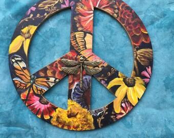 Peace Garden - Deep Blue