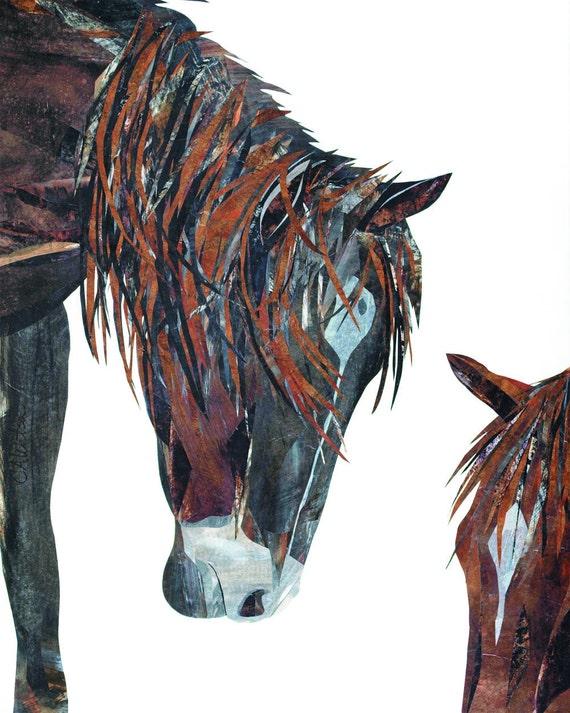 Western Decor Horse Print Contemporary Art From Original