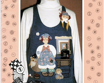 The Whole Country Caboodle Sweet Sewnya 134 Girl Applique and Pin Pattern