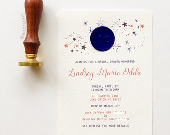 United States Air Force, Bridal Shower Invitations / Invites (Red, White, and Blue)