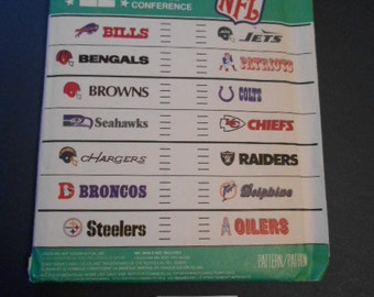 McCalls 3421,  NFL Team Logos, Out of Print Pattern