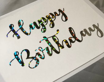Birthday|star|greeting card|birthday card|Unique|Card|Texas|Gift for her|handmade|birthday gift|gift|gift for him|calligraphy