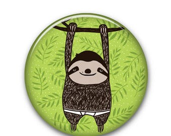 "Sloth 1.25"" Button"