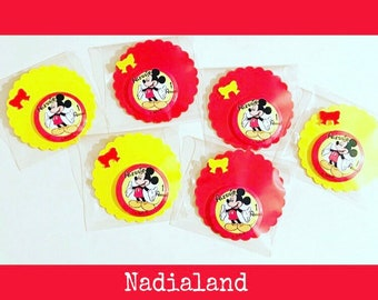 Birthday Little mice-souvenirs feast Doraemon-Minnie-PjMAsk-Personalized magnets-magnets for favors-birthday boy and Girl