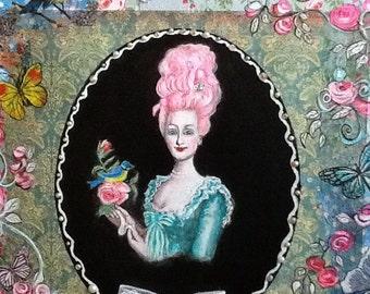 Marie Antoinette - Mixed Media on canvas