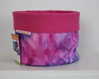 Handcrafted Fabric Bucket - Pink