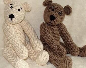 Instant Download - PDF Crochet Pattern - 10 inch Bear and Polar Bear