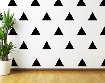 "Set of 20 4"" wide Triangle Wall Decal // Triangle Wall Decal // Vinyl Wall Decal // Wall Decor // Modern Decal // Custom Wall Decal //"