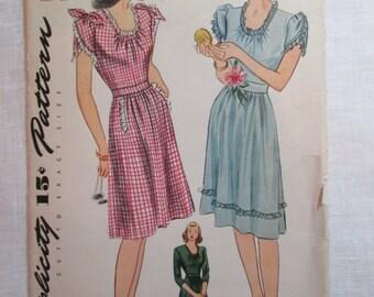 "Antique 1944 Simplicity Pattern #1018 - size 36"" Bust"