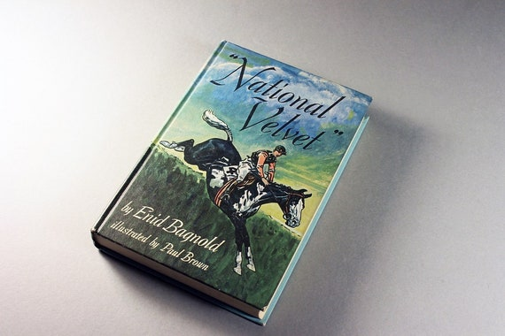 Children's Hardcover Book, National Velvet, Enid Bagnold, 1972 Edition, Classic Book, Fiction, Illustrated, Collectible