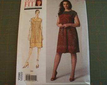"Vogue 1390 Misses Dress Sewing Pattern OSZ 32-55"" bust NEW"