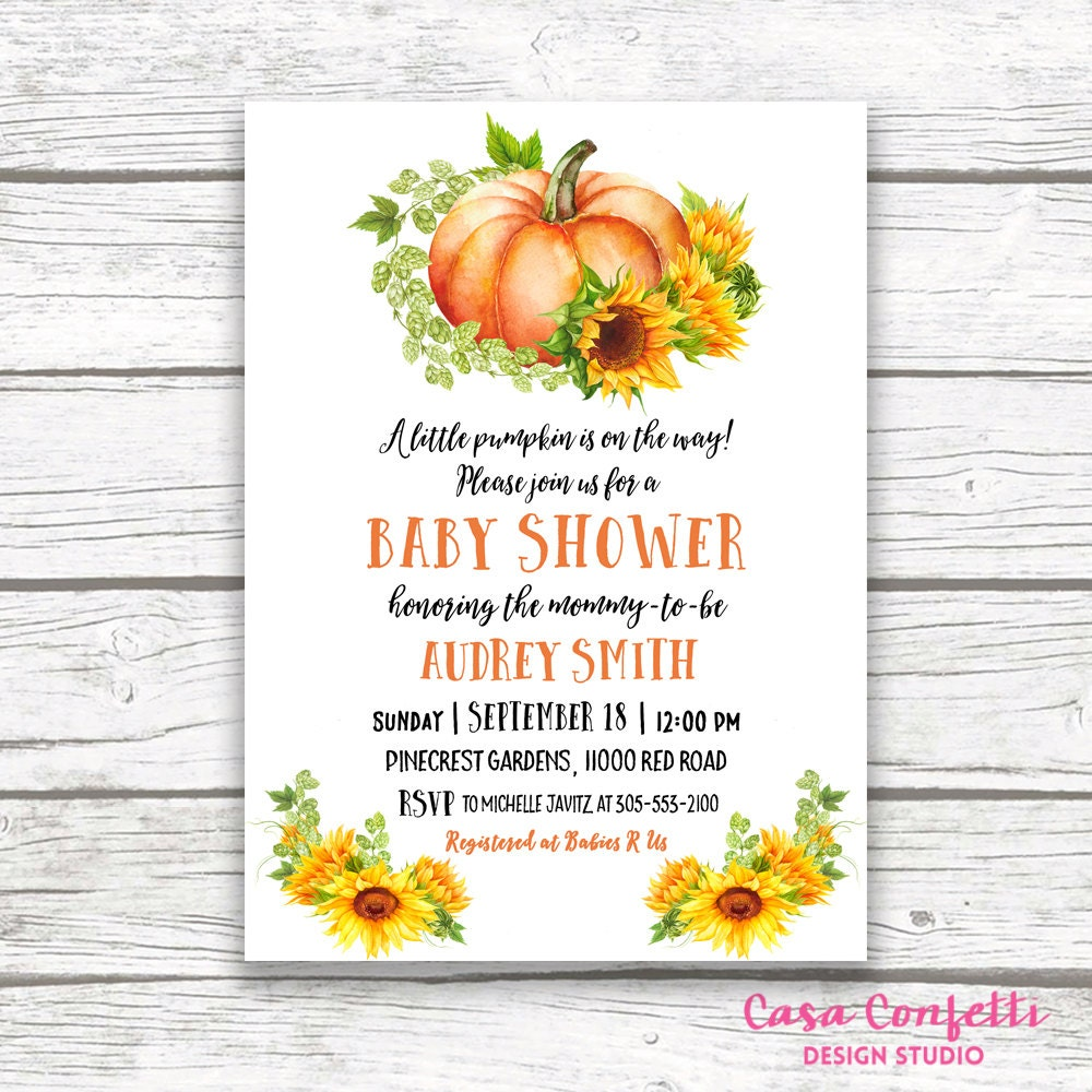 Pumpkin baby shower invitation fall baby shower invitation pumpkin baby shower invitation fall baby shower invitation sunflower baby shower invitation rustic baby shower printable invitation filmwisefo
