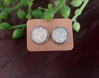 Glitter 12mm Stud Earrings