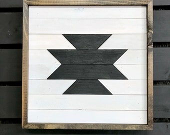 Wood Wall Art | Aztec | Southwestern Decor | Wall Decor | Rustic Wall Decor | Outdoor Wall Decor | Cabin Decor | Reclaimed Wood Wall Art