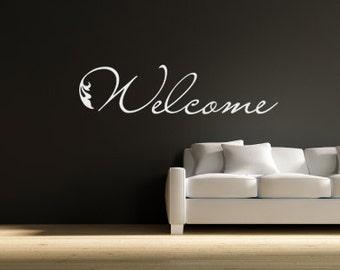 Wall Decals Welcome - Vinyl Welcome Decal - Welcome Vinyl Wall Art 0024