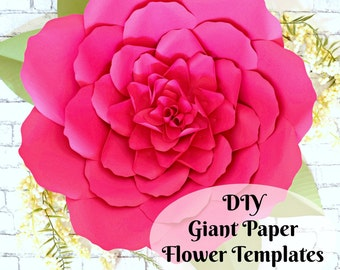 Large Paper Flowers, Giant Paper Flowers, Templates & Tutorials, Printable Templates, SVG Cut Files, DIY