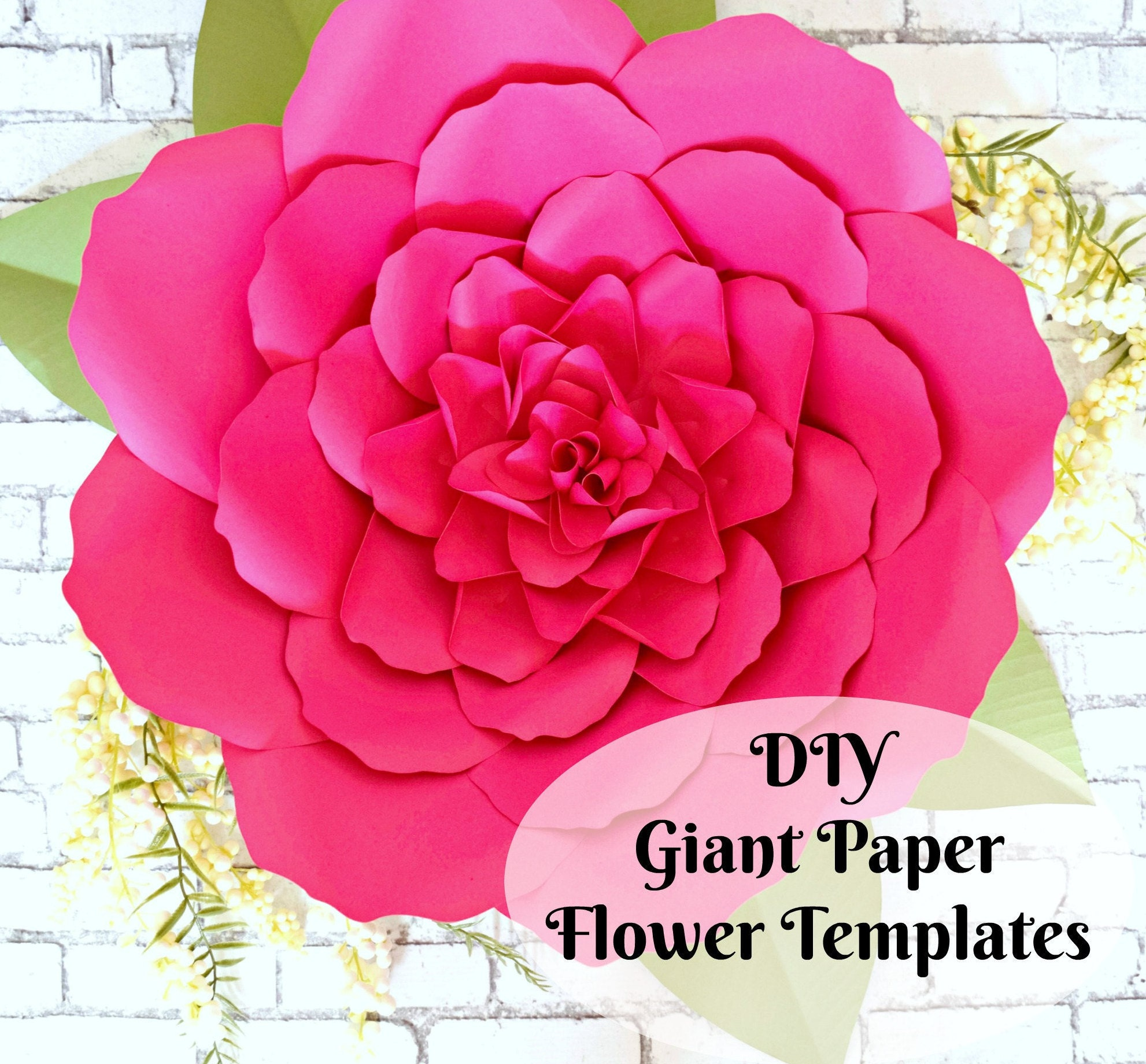 Large Paper Flowers Giant Paper Flower Patterns Tutorials Flower