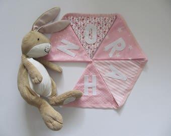 Pink Personalised Bunting Baby Girl Baby Gift Garland