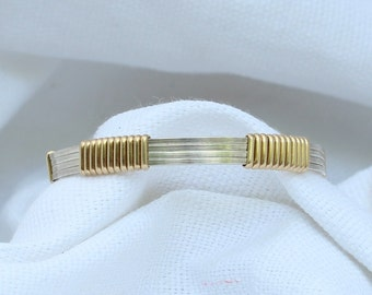 Wire Wrapped Gold and Silver Baby Bangle