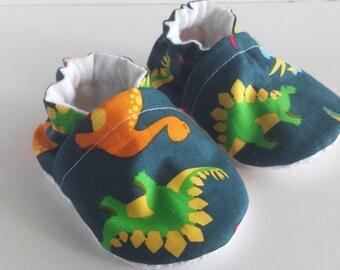 BOGO sale BOGO7 Dino baby shoes, dinasour moccs, soft sole shoes, crib shoes,  booties,  infant shoes, moccasins,  baby shoes
