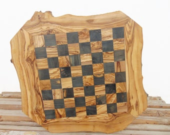 20-Inch Rustic Wooden Chess Board Set, Engraved Chess Set Board Game, Dad gift, Boyfriend Gift, Birthday Gift #03