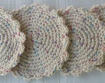cotton crochet coaster, beige coaster set,cotton coaster,crochet coaster, beige cotton coaster, beige crochet coaster, beige crochet barware