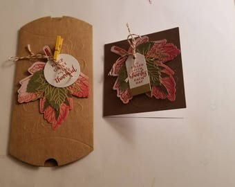 Give Thanks cards and pop up boxes