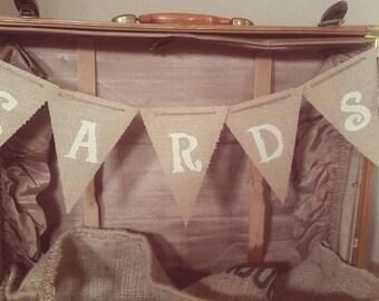 Burlap Cards Banner