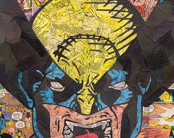 Wolverine Comic Collage Print
