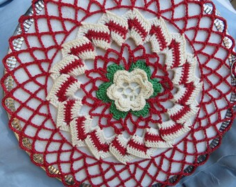 Red Crocheted Vintage Flew Cover