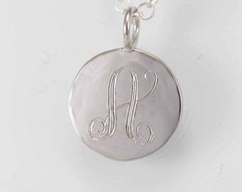 Personalized Silver charm necklace, sterling  necklace, Initial Charm Necklace