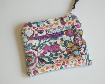 Handmade Fabric Zipped Coin/Change Purse Fully Lined - Ladies - Girls - Gift - Liberty Tana Lawn