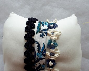 Different fabric Cuff Bracelet