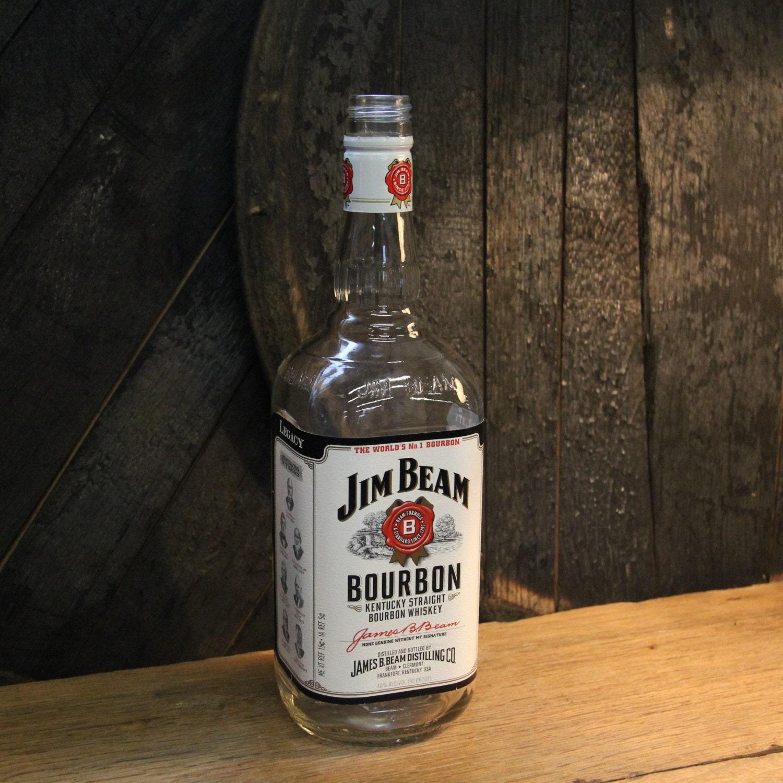Botella De Whisky Vac A Jim Beam Bourbon Vidrio Reciclado # Muebles Para Guardar Whisky