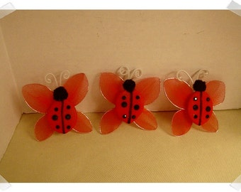 Embellishments- Ladybug Pieces/Single OR Set of 3/Craft Supplies*