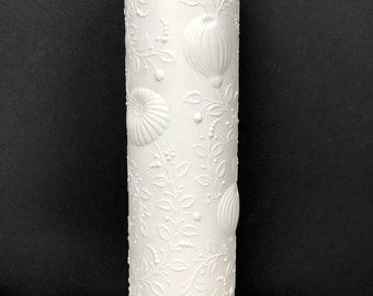 AK Kaiser Cylinder Vase White Matte Bisque Porcelain