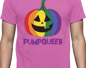 PUMPQUEER Rainbow Gay Pride Halloween T-Shirt