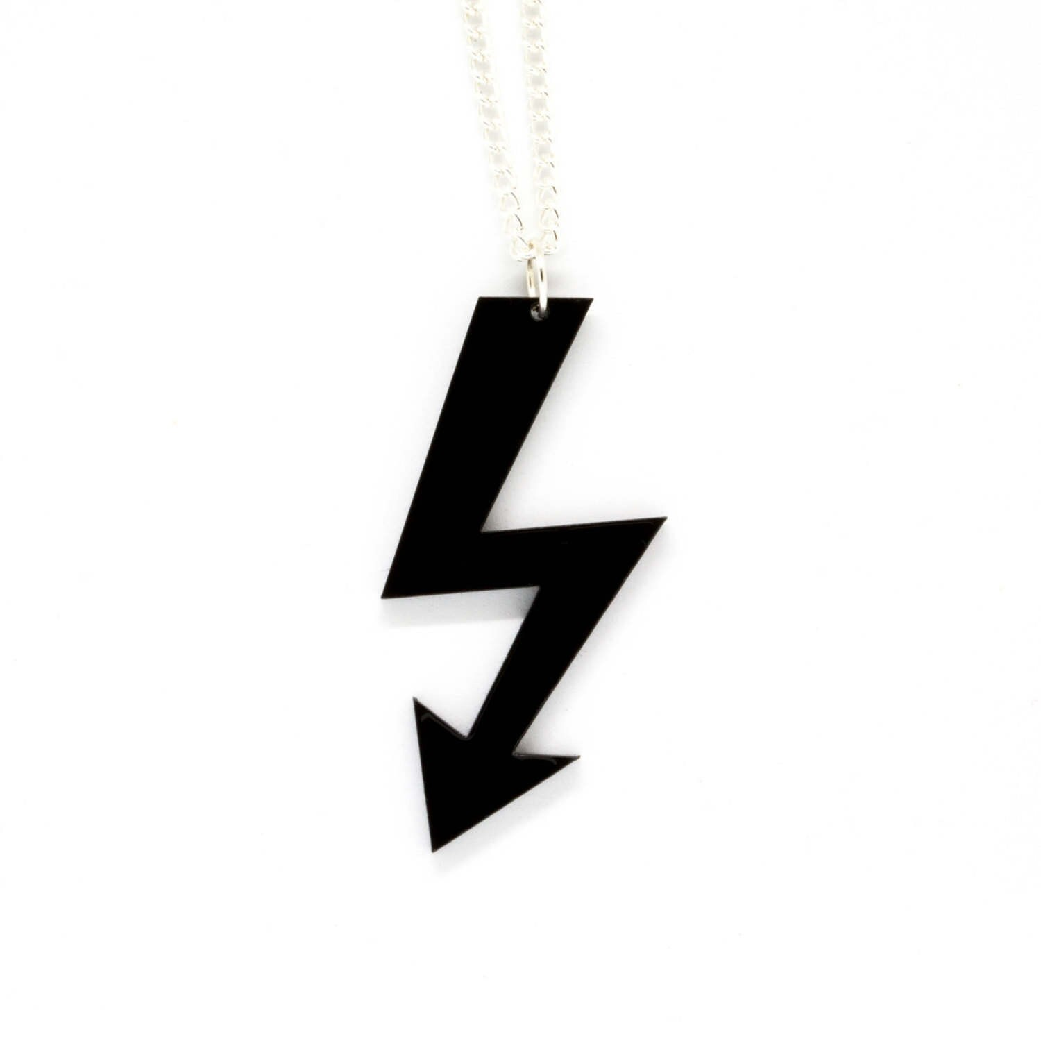 Marilyn manson shock logo acrylic pendant on silver plaited zoom buycottarizona Images