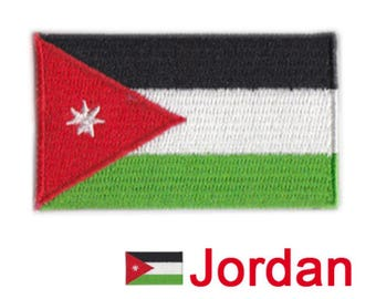 Small Jordan Flag Iron On Patch 2.5 x 1.5 inch Free Shipping