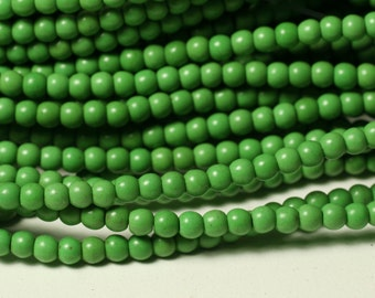 Promotion SALE turquoise apple green round 4mm, one 15-inch strand (item ID TR4mPG)