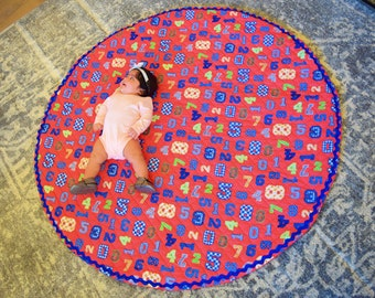 Baby Playmat | Round Play Mat | Playmat | Large Padded Play Mat | Baby Play Mat | Teepee Mat | Padded Playmat | Baby Shower Gift